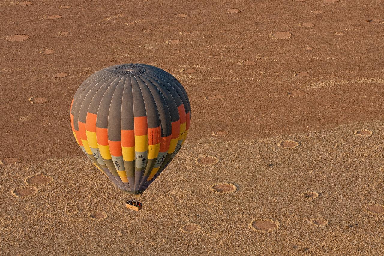 Hot air ballooning, Namibia Honeymoon