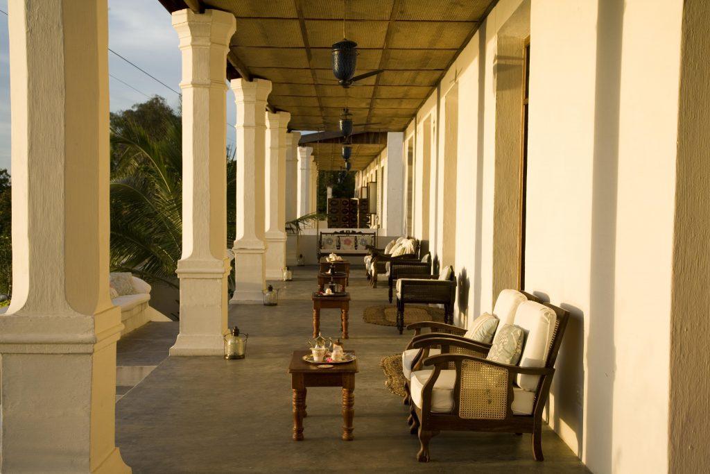 Front veranda Ibo Island Lodge