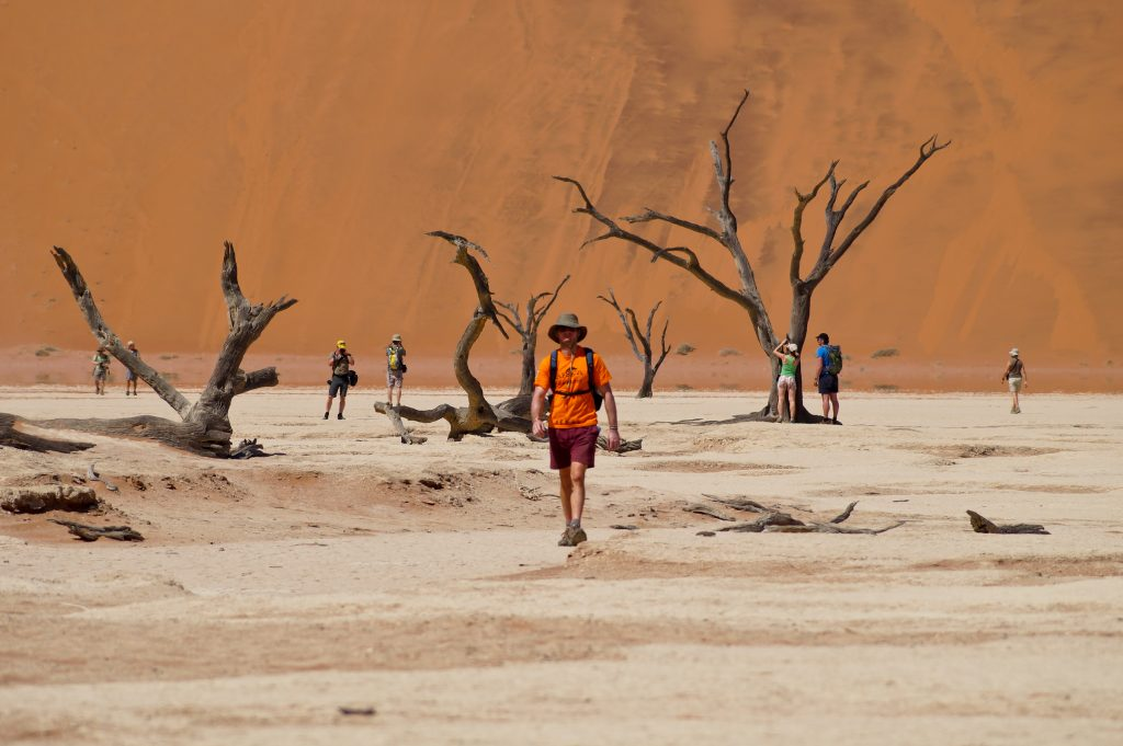 Made in Africa Tours & Safaris - Namibia & Botswana Classic Safari - Deadvlei walker