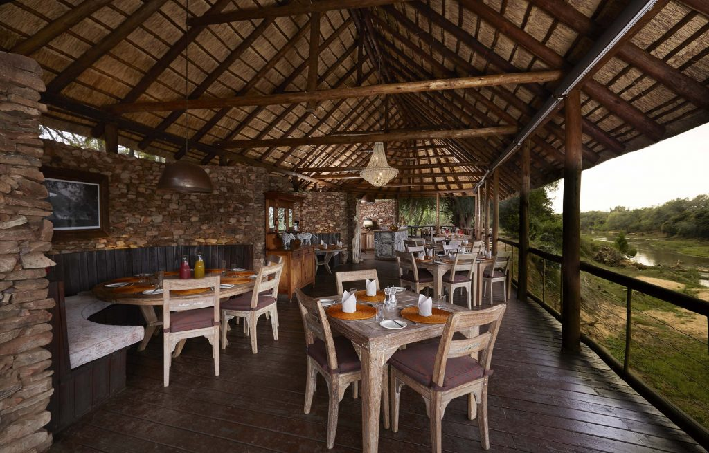 Pafuri Camp dining area