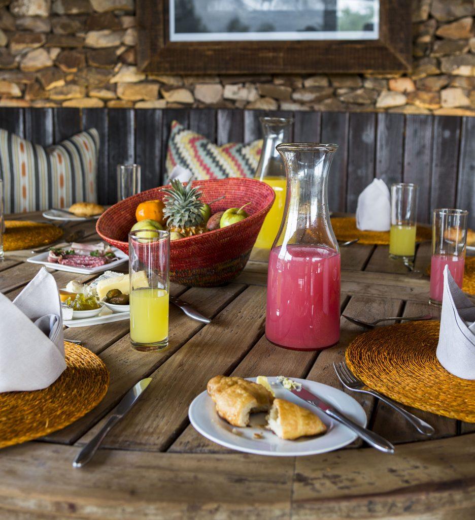 Pafuri Camp breakfast
