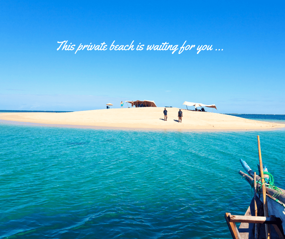 This private beach is waiting for you ....