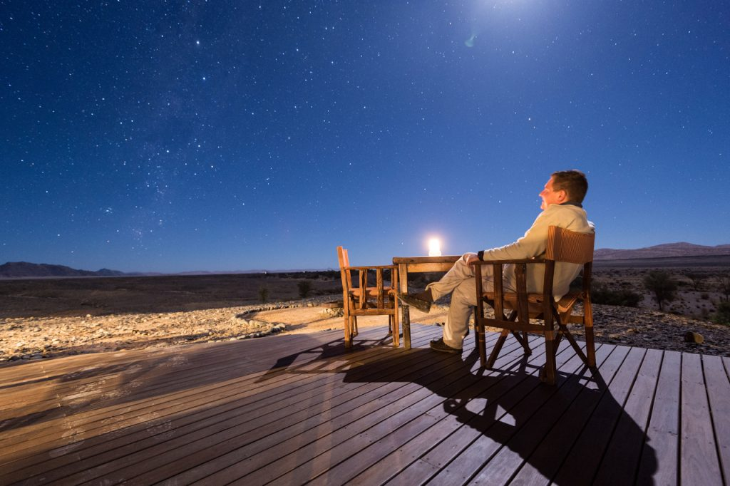Desert Rhino Camp Star Gazing - Namibia Desert Safari