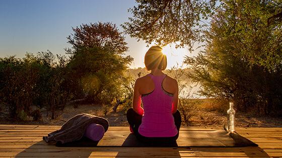 Yoga safari Victoria Falls River Lodge, wellness travel