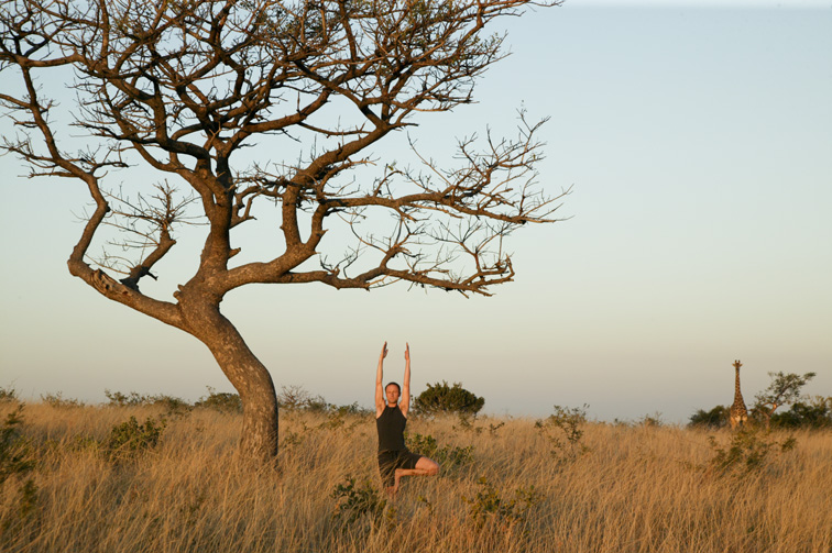 Yoga safari Phinda Private Game Reserve South Africa, wellness travel