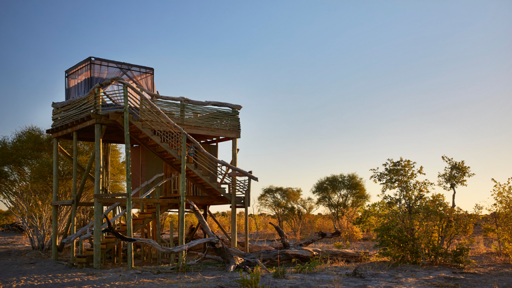 Botswana-Private-Reserve-Lodge-Safari---Skybed-Platform