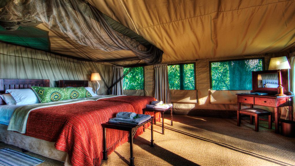 Botswana-Honeymoon-Safari---Camp-Moremi-luxury-tent-interior
