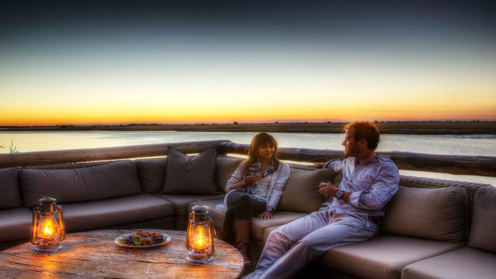 Botswana-Honeymoon-Safari---Chobe-Game-Lodge-sundowners