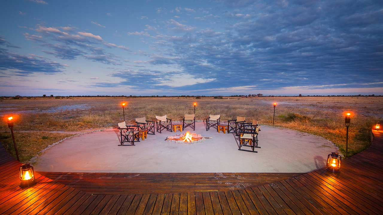 Nxai-Pan-Camp-sunset-firepit